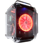 High performance PC built using the Contour Helios tempered glass ATX Gaming case