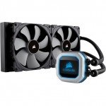 280mm double fan radiator Corsair H115i Pro processor liquid cooling for superior performance