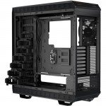 """Be Quiet! Dark Base 900 ATX Workstation Chassis back left angle with the sides removed showing 3.5"""" drive bays"""
